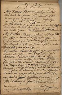 Thomas Josselyn Diary