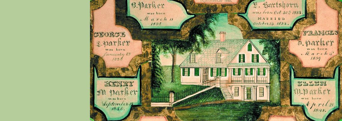 Blake and Mary (Clark) Parker family register, 1806-1854