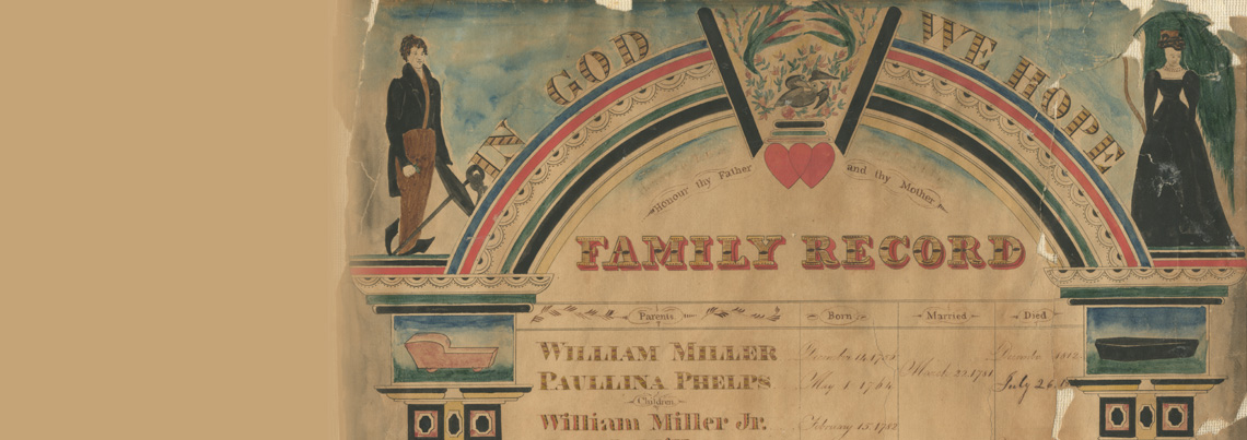 William Miller family record, 1756-1847