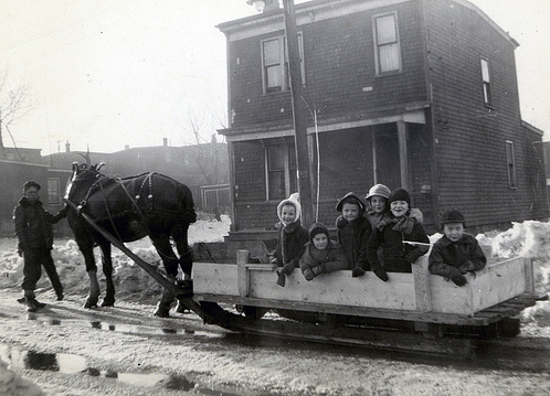 Children on sled 1919_NS Archives