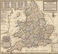 Map of England 1732