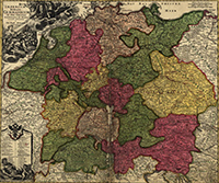 Map of the German Empire, 1700