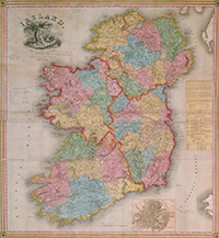 Map of Ireland 1835