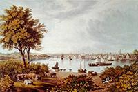 Vuë de la place capitale a Quebeck