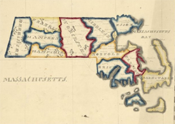Map of Massachusetts ca. 1820
