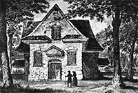 Old view of Quaker Meeting House, Merion, Penn.