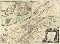 Map of Province of Quebec, 1763