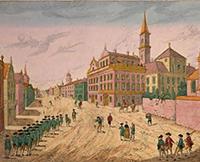 Vuë de la rue des recolets de Quebeck, 177-