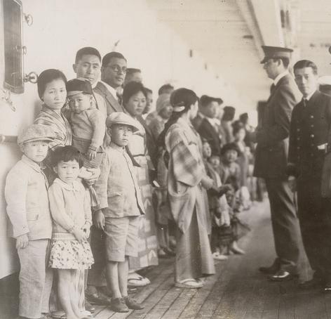 Shimyo Maru passengers, Angel Island, 1931