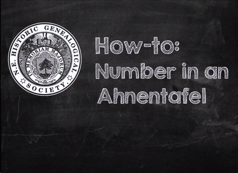 How to Ahnentafel