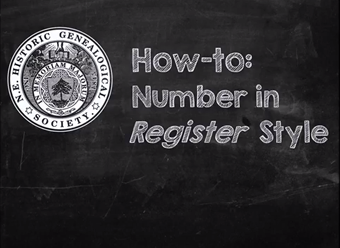Register Style Numbering