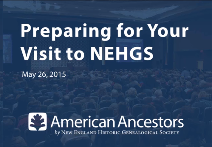 Preparing for your visit to NEHGS