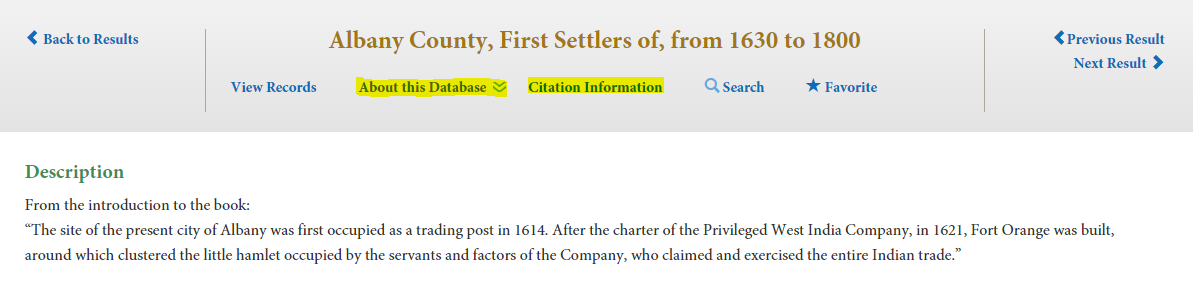 Citation and Database information