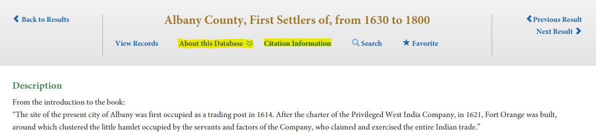 Citation and Database information