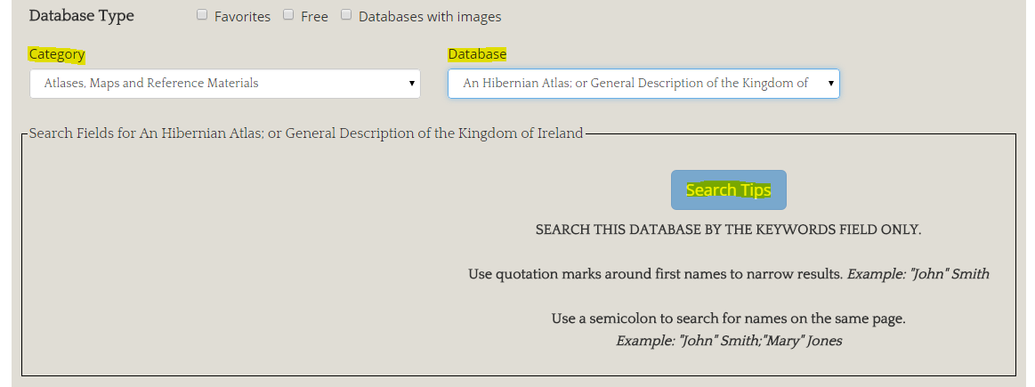 Searching by databases
