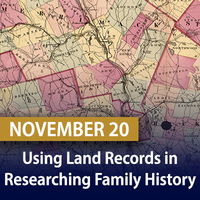 Using Land Records in Researching Family History, November 20