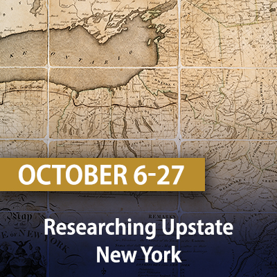 Researching Upstate New York, October 6, 13, 20, and 27