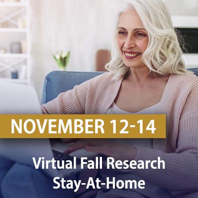 Virtual Fall Research Stay-At-Home, November 12 - 14