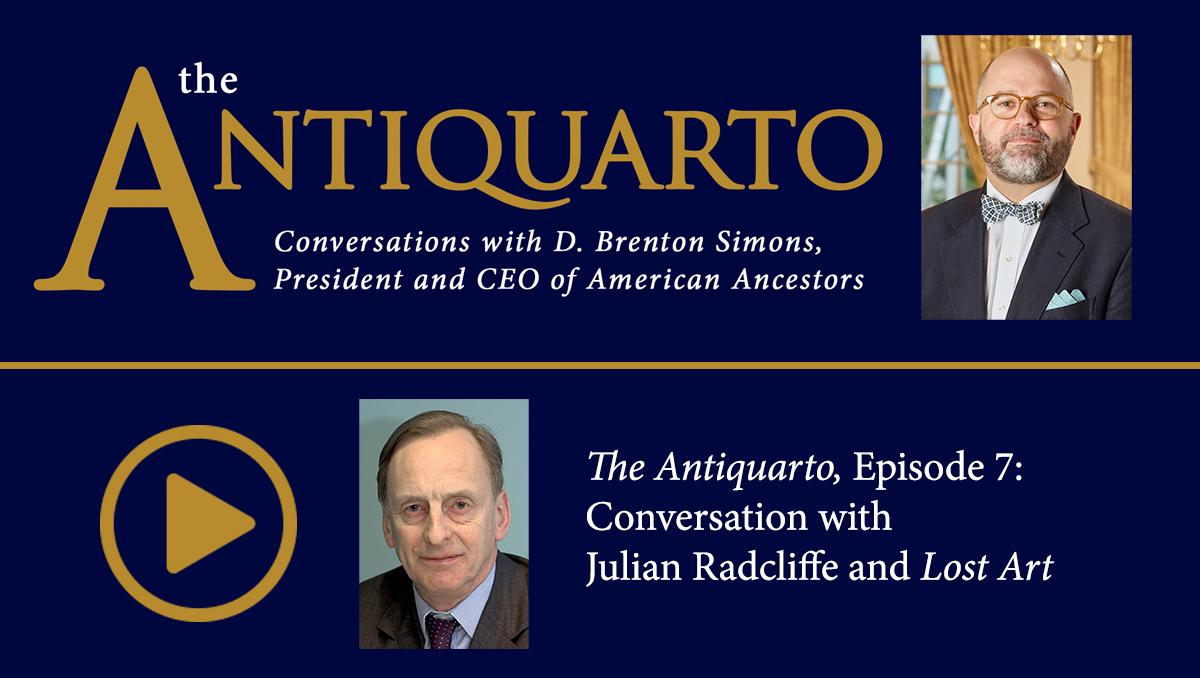 Watch Episode 7 of Antiquarto: Conversations with D. Brenton Simons, President and CEO