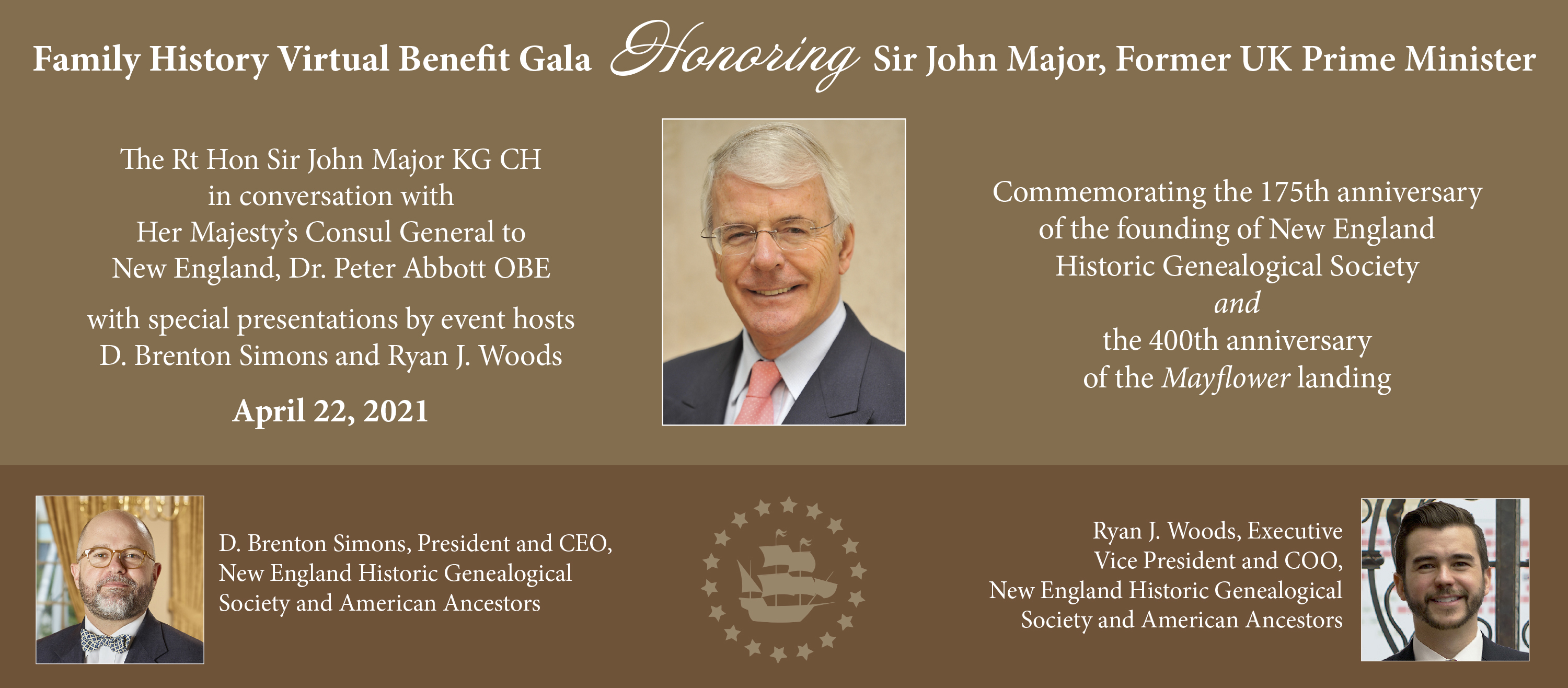 Register Now! Family History Virtual Benefit Gala Honoring the Rt Hon Sir John Major KG CH