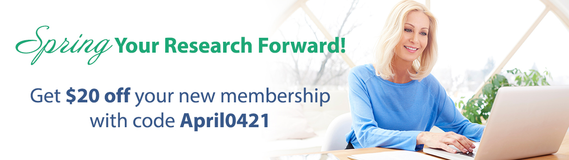 Spring your research forward! Get $20 off your new membership with code April0421