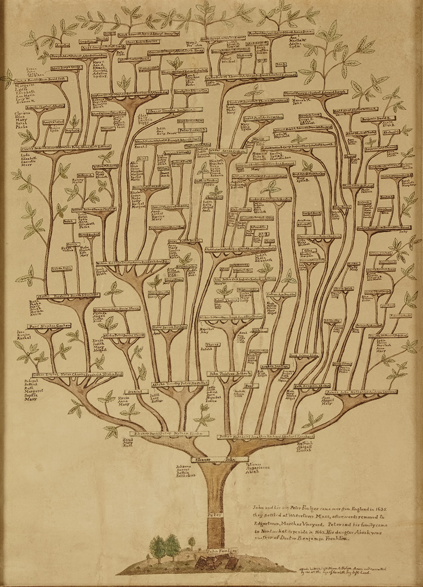 Folger Family Tree, 1866