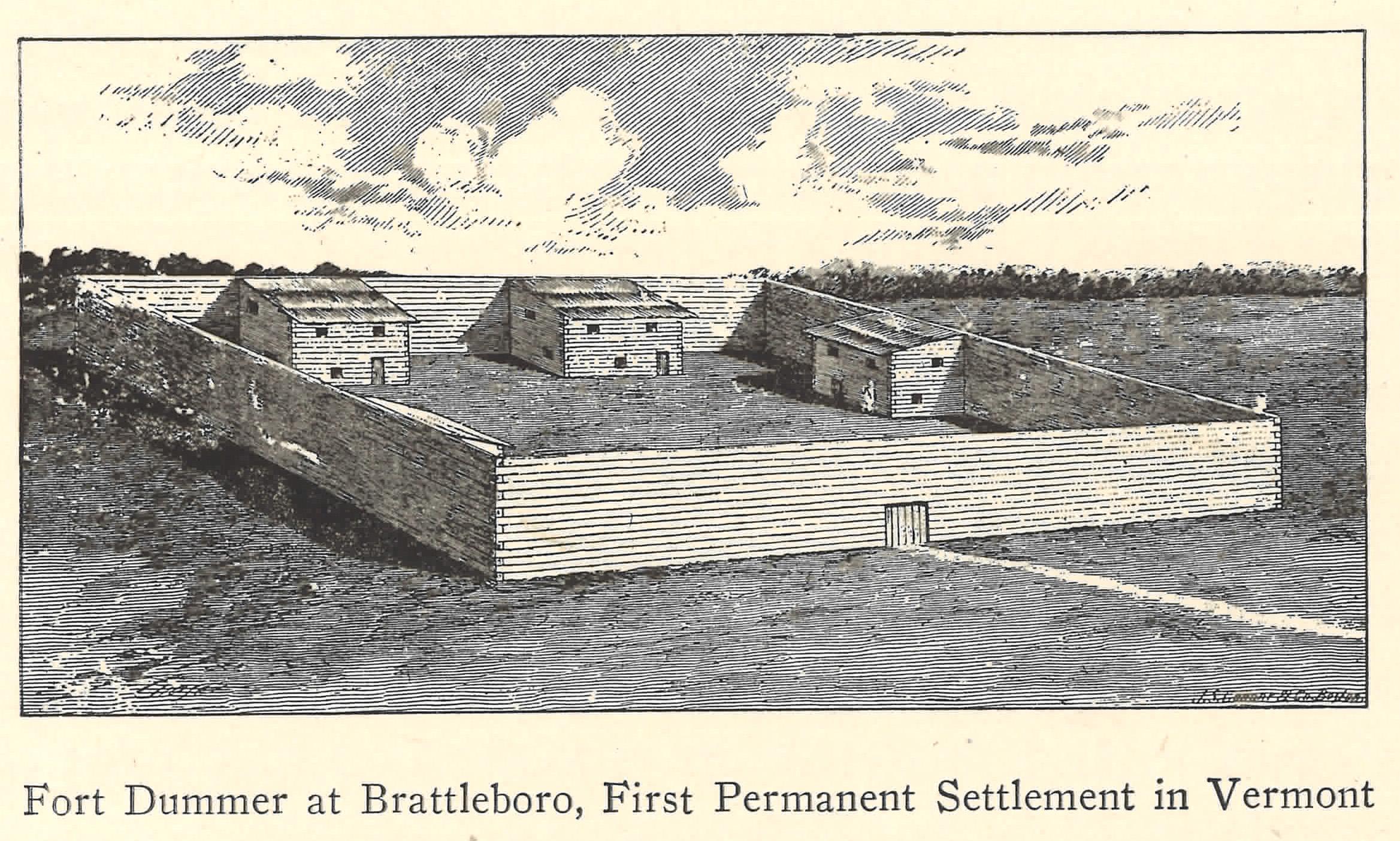 Fort Dummer, Brattleboro, Vermont. 1724
